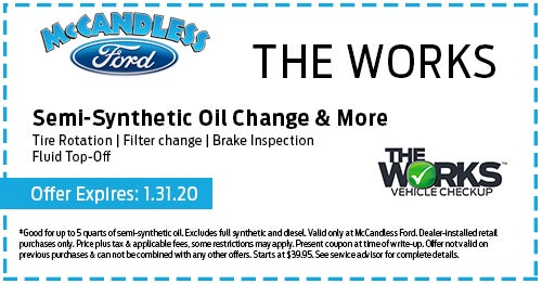 Ford Oil Change Coupon >> Ford Service Specials Meadville Pa Ford Parts Specials