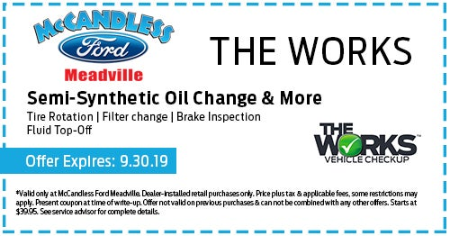 Ford Service Specials Meadville, PA | Ford Parts Specials